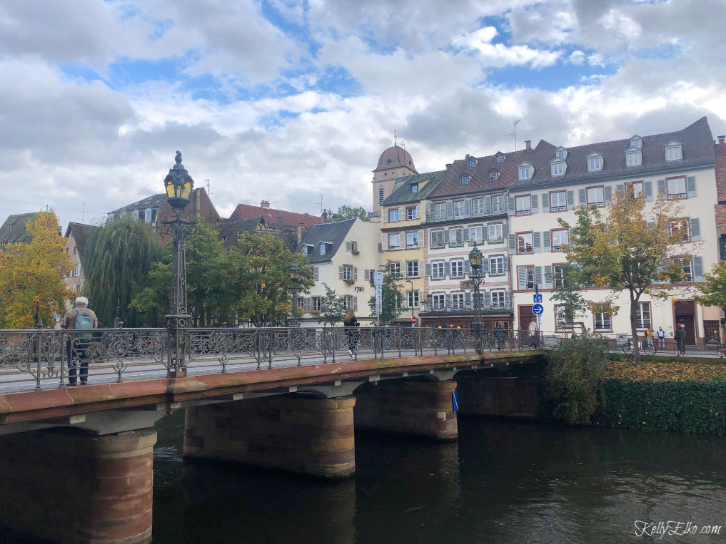 Strasbourg France is a fairytale with it's canals, bridges and charming architecture kellyelko.com #strasbourg #france #europe #luxurytravel #rivercruise #travelblog #travelblogger #exploreeurope #bridge #canals