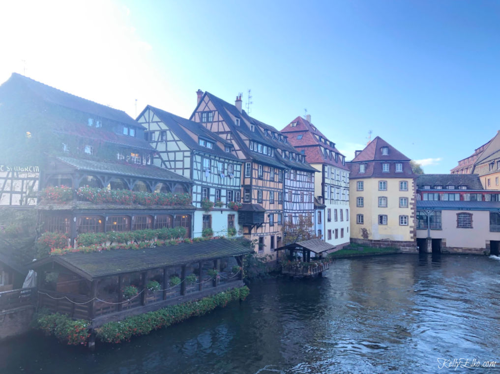 Strasbourg France is a charming town with canals and half timbered houses kellyelko.com #travel #travelblog #strasbourg #france #luxurytravel #canals
