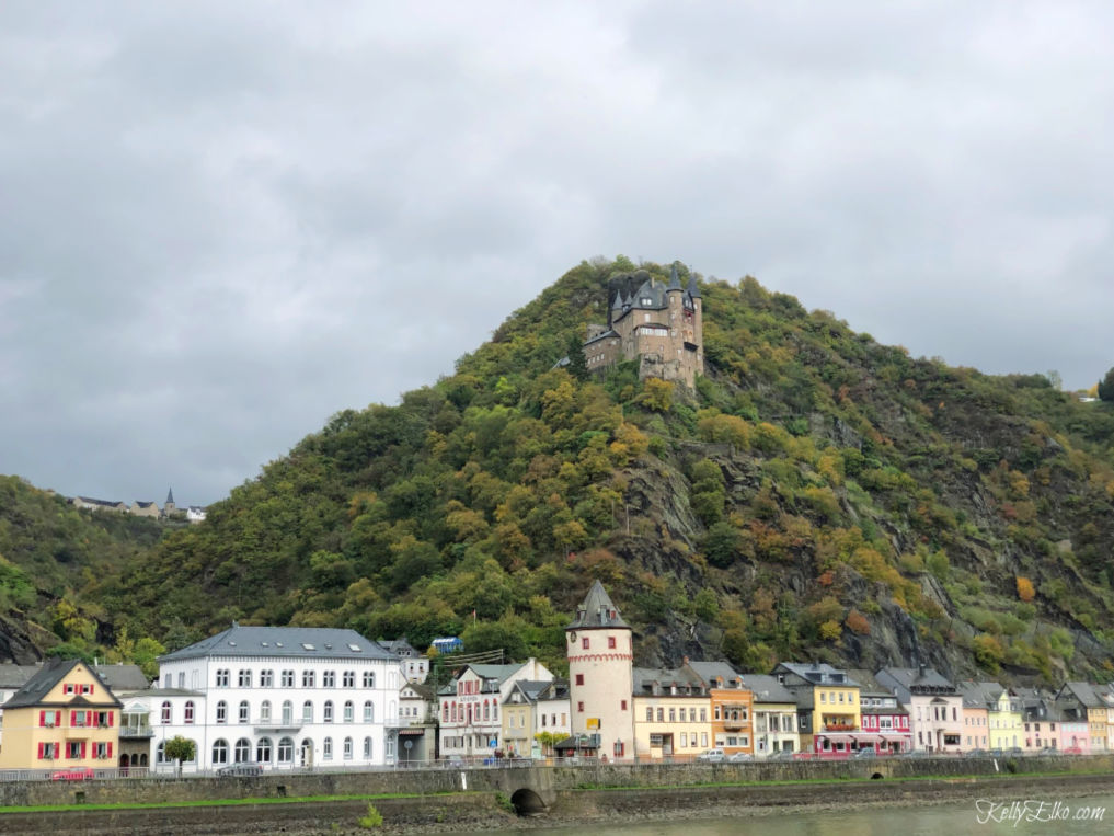 Middle Rhine River Castle Corridor - this stunning stretch of river has tons of castles kellyelko.com #rhineriver #rivercruise #middlerhine #castle #rhinerivercastles #travel #travelblog #travelblogger