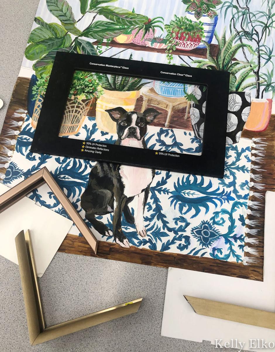 Tips on choosing the right mat and frame for your favorite art kellyelko.com #art #customart #originalart #petportrait #customframe #frames