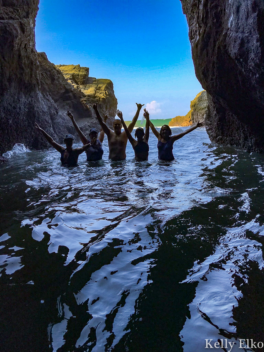 Swim in caves in Costa Rica kellyelko.com #costarica #caves #adventure #adventuretravel #beachvacation #beaches #travel #travelblog #travelblogger #girlstrip