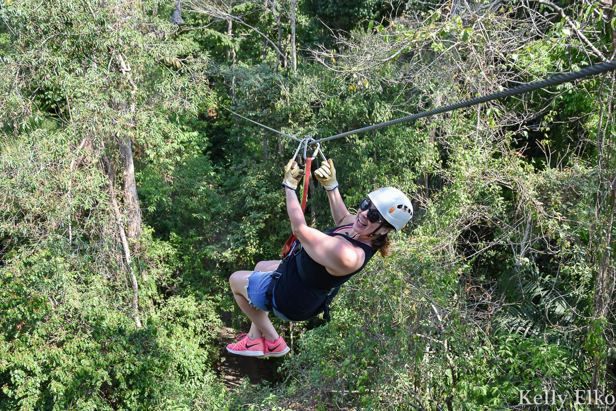 Zipline in Costa Rica on the longest zipline in Latin America kellyelko.com #zipline #costarica #adventuretravel #adventure #travel #travelblog #travelblogger #manualantonio