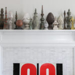 Why do people collect things - how fun is this finial collection kellyelko.com #collect #collections #finials #mantel #manteldecor