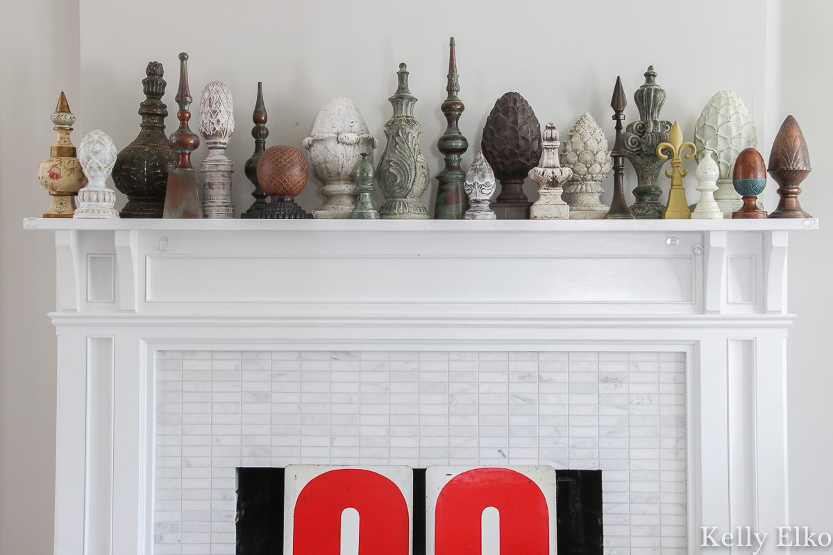 Why do people collect things? This finial collection is just one of the many this collector owns and displays kellyelko.com #collections #collecting #collect #collector #finials