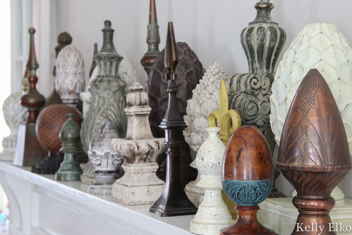 What a fun collection of finials kellyelko.com #finials #collection #collect #collector