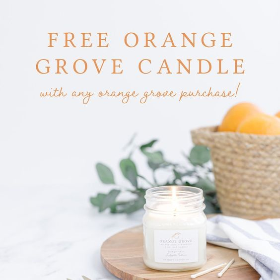 Get a free candle with purchase kellyelko.com #candle #candles #farmhousedecor #masonjar #giftguide #giftsforher #giftideas #free #freebie