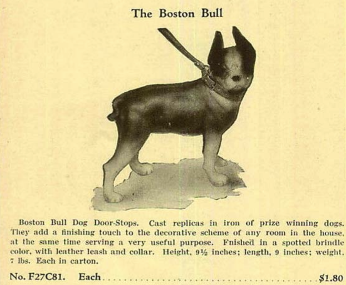 Antique Boston Terrier Doorstop Sears Catalog