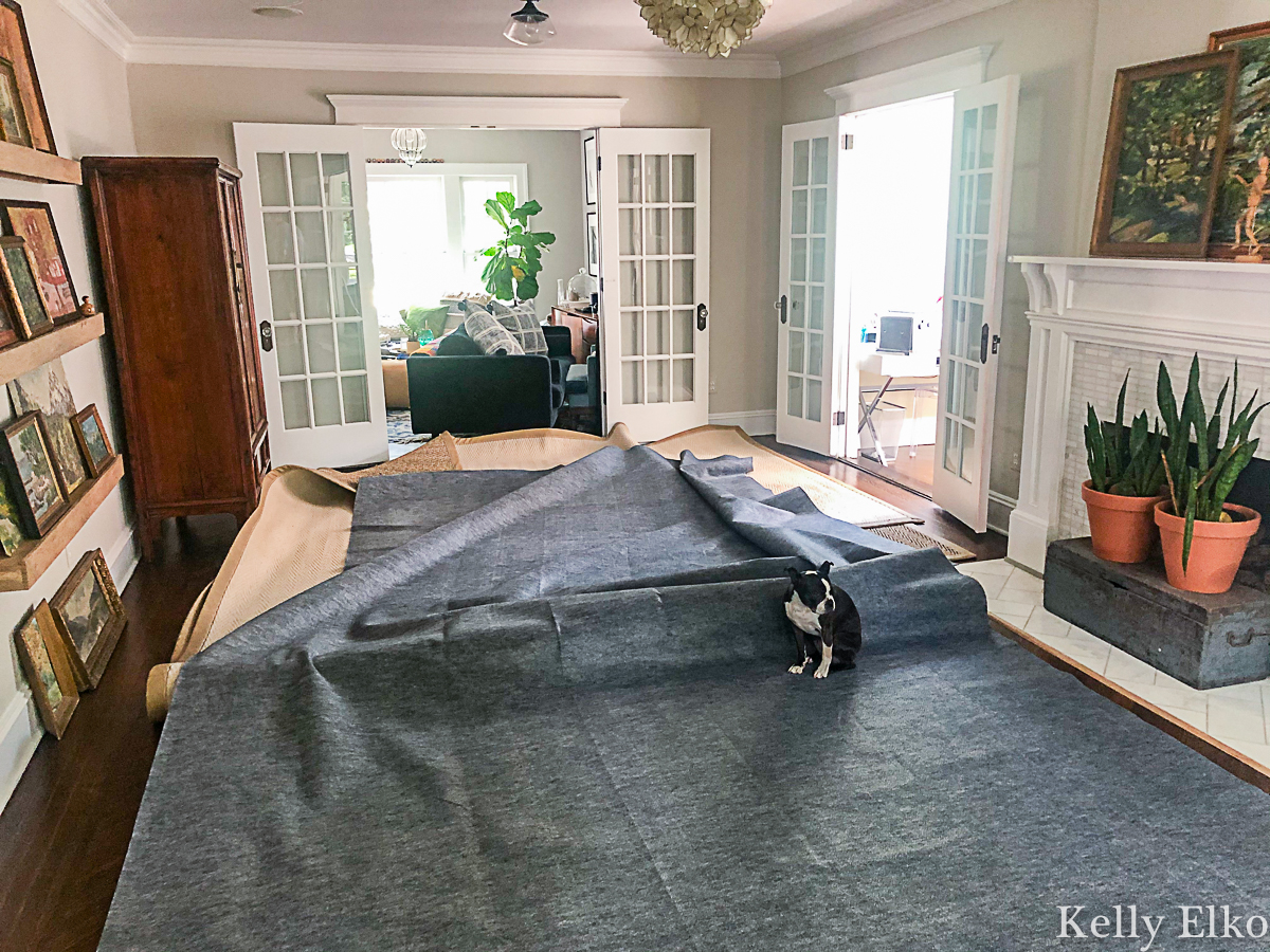 Why every rug needs a rug pad! Protect your floors and extend the life of your rugs kellyelko.com #rugs #rugpad #tipsandtricks #decoratingtips #homedecor #hardwood #hardwoodfloors
