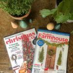 Christmas Magazine Features kellyelko.com #christmas #christmasmagazines #betterhomes&gardens #modernfarmhousemagazine