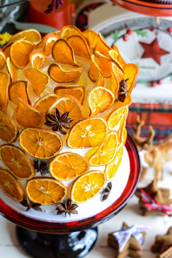 Wow this dried orange slice cake is a show stopper #cake #cakerecipe #orangeslices #driedoranges #driedcitrus #partyfood #citrusrecipe