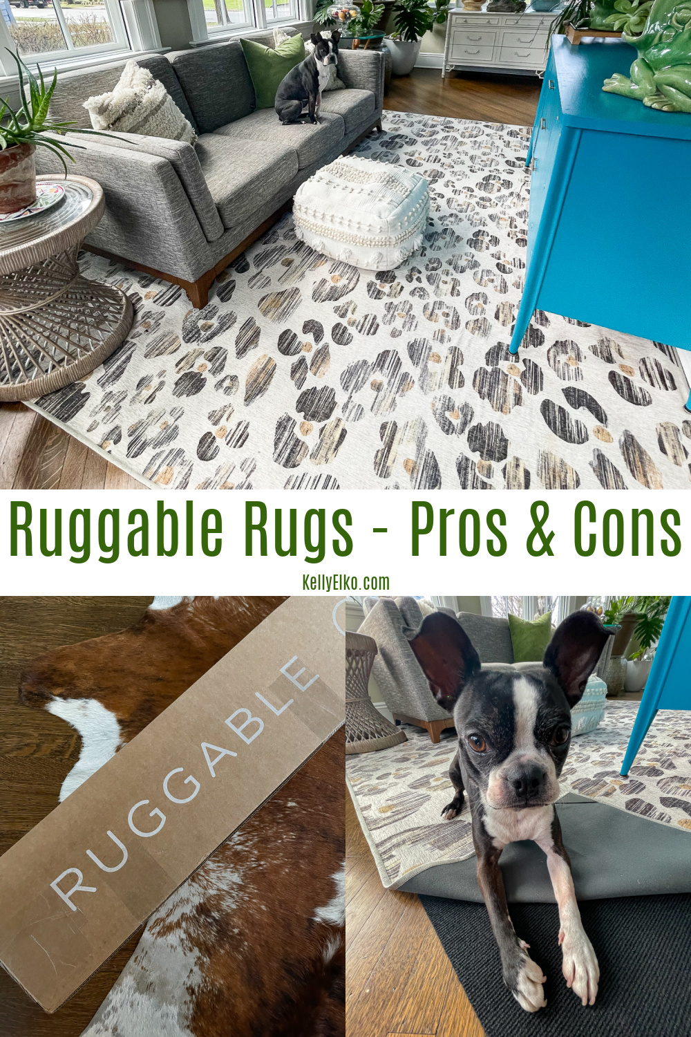 Ruggable Rugs Pros and Cons - get all the pros and cons of owning this machine washable rug kellyelko.com