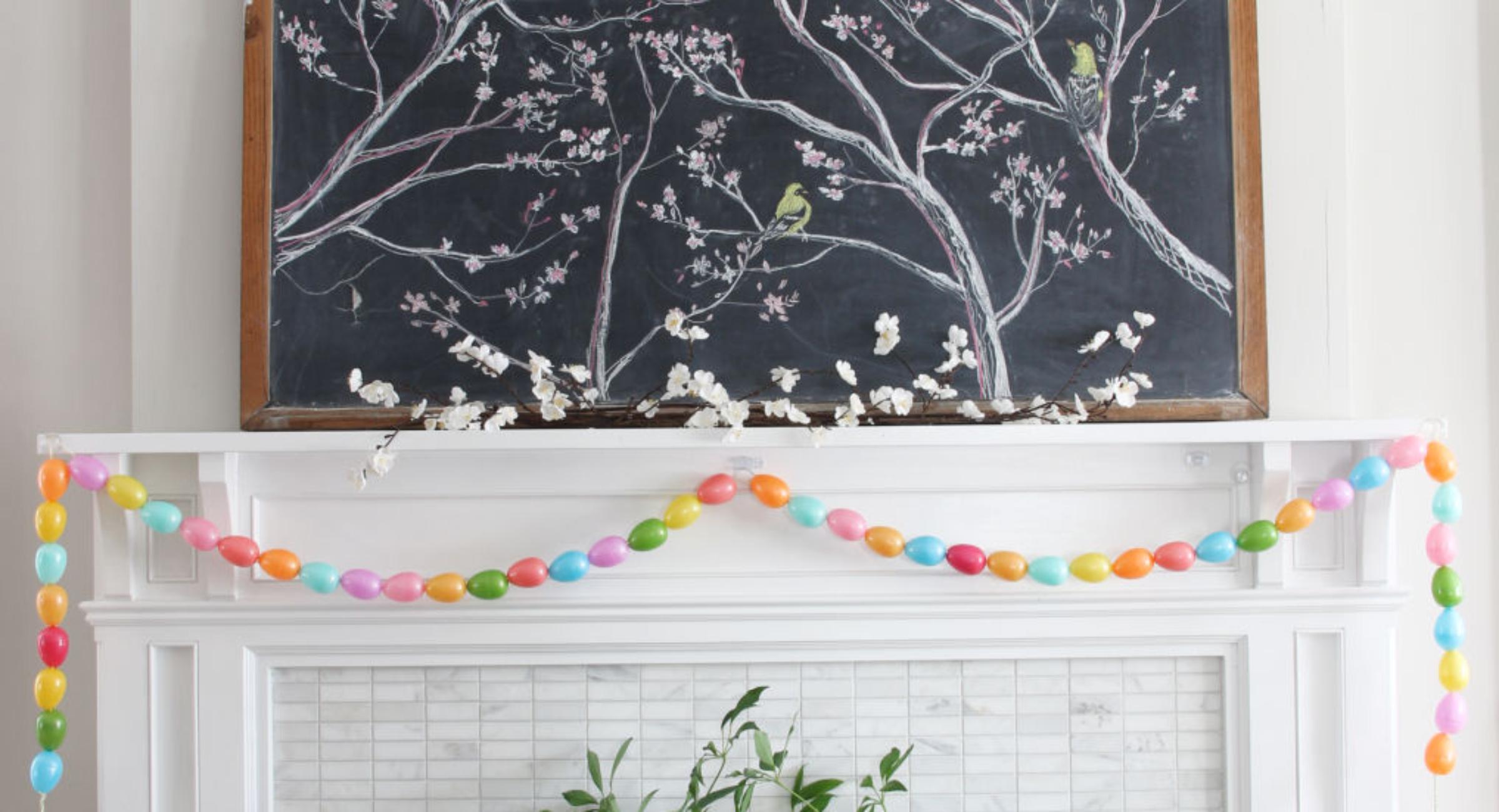 spring-chalkboard-art-mantel-egg-garland