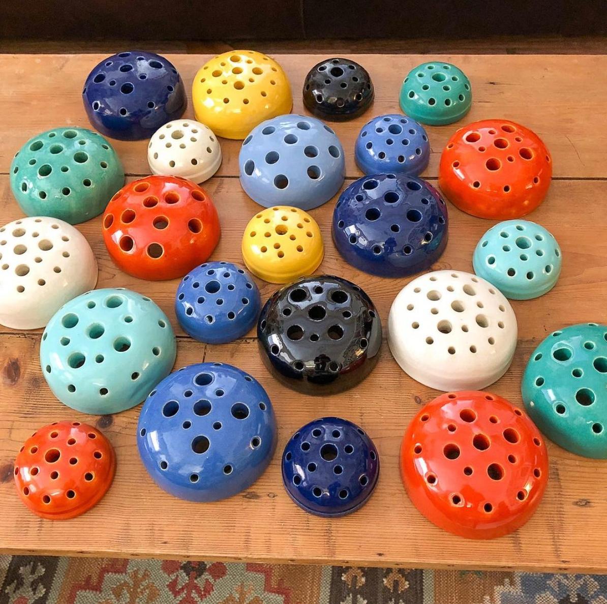 Vintage porcelain flower frogs kellyelko.com