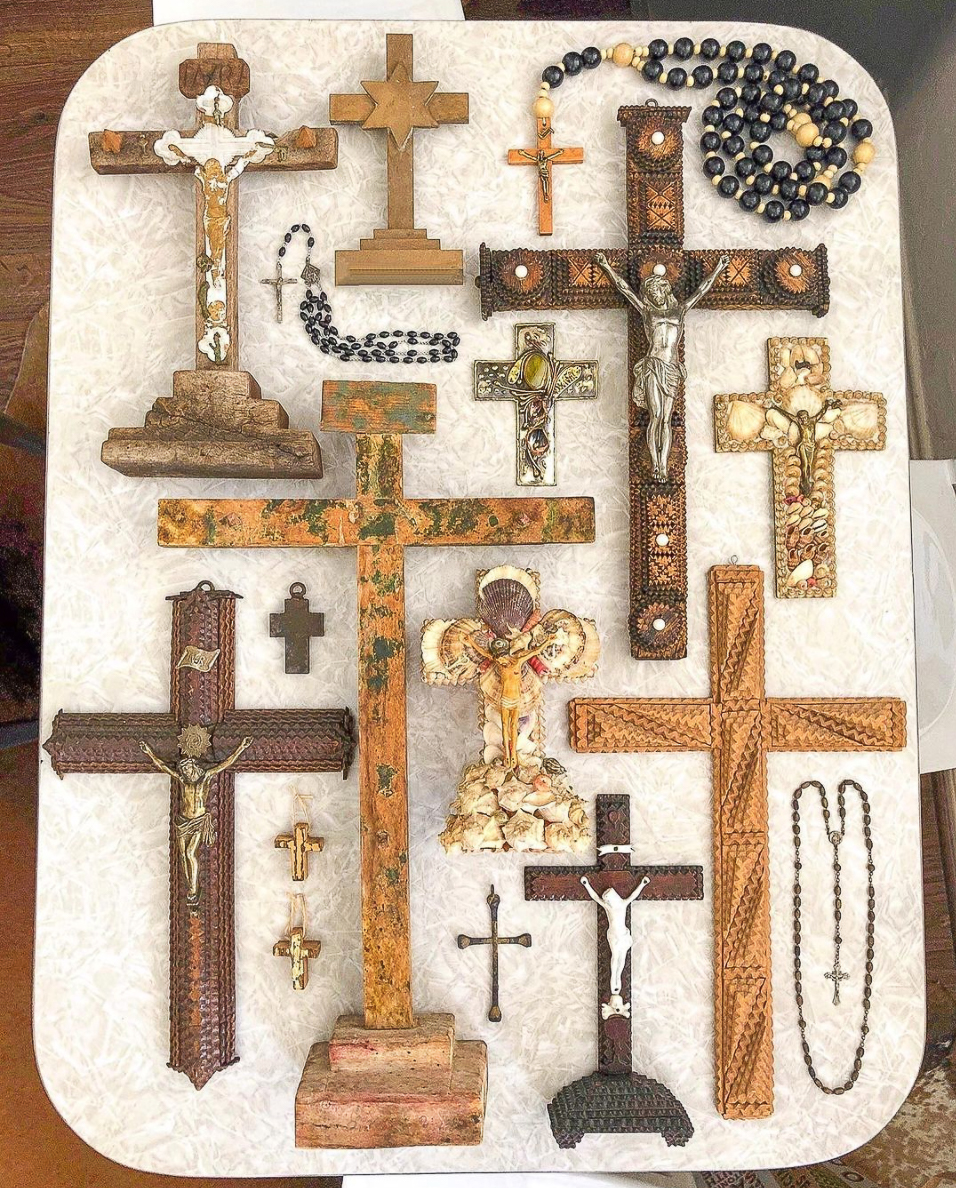 Vintage religious crosses collection kellyelko.com