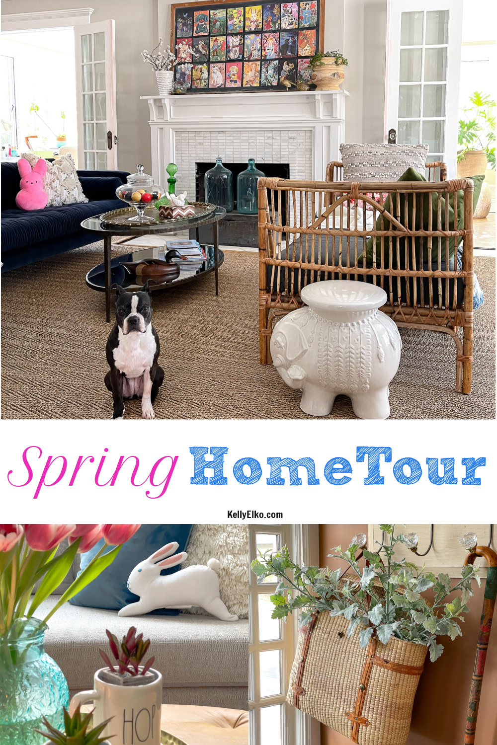 Eclectic and colorful spring home tour kellyelko.com
