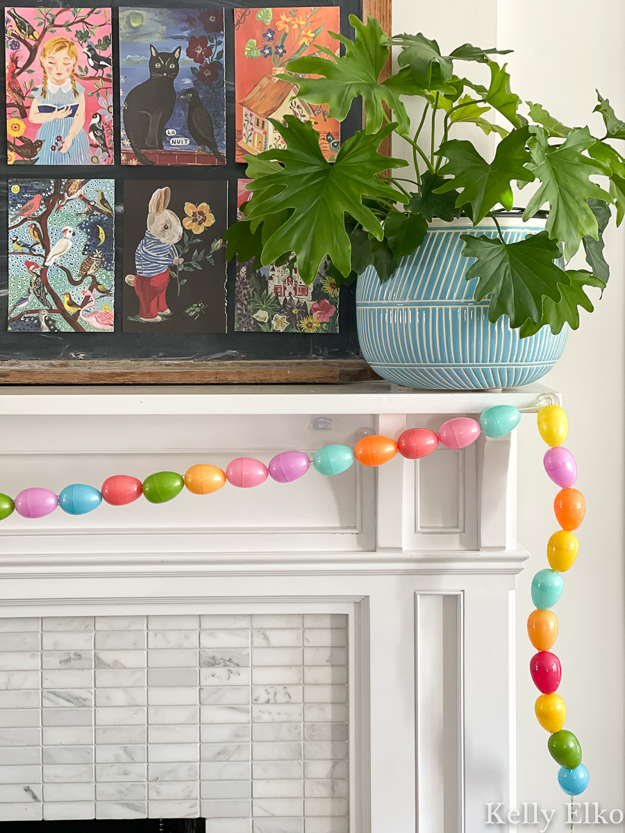 Make this DIY egg garland for spring kellyelko.com