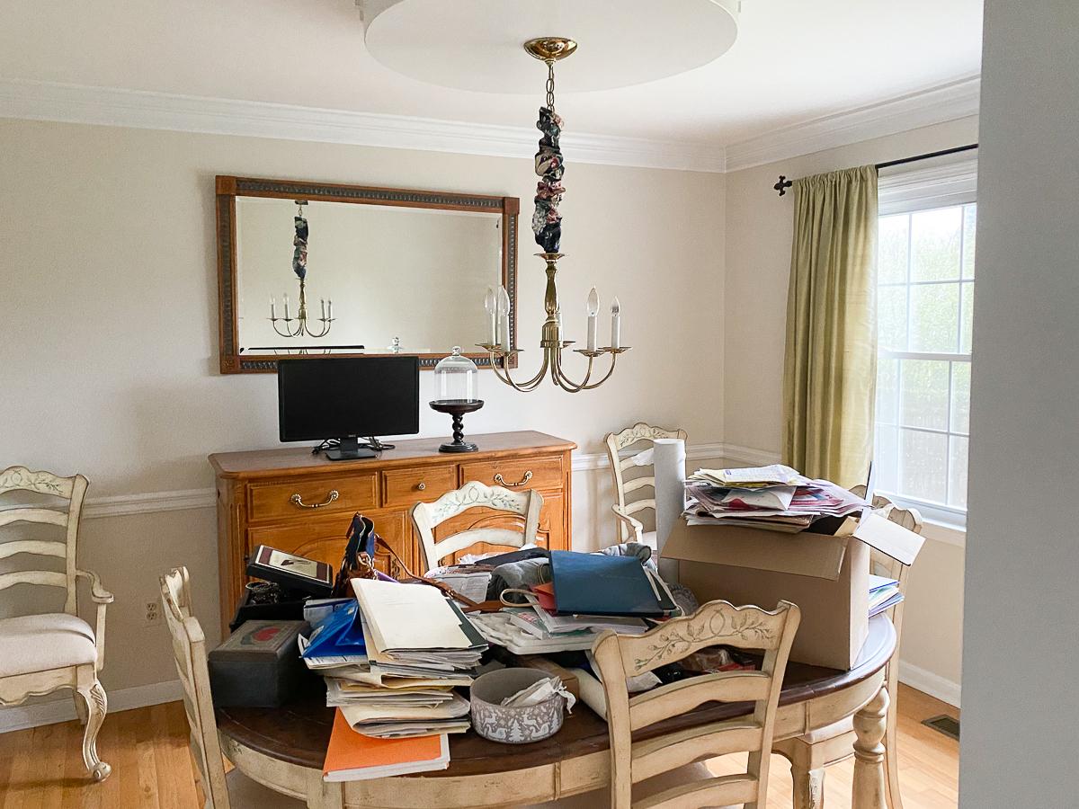 Home Staging Before Dining Room kellyelko.com