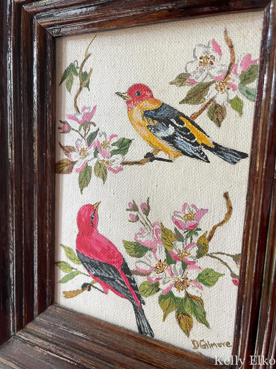 Vintage bird painting kellyelko.com