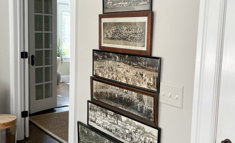 Vintage Panoramic Photo Gallery Wall kellyelko.com