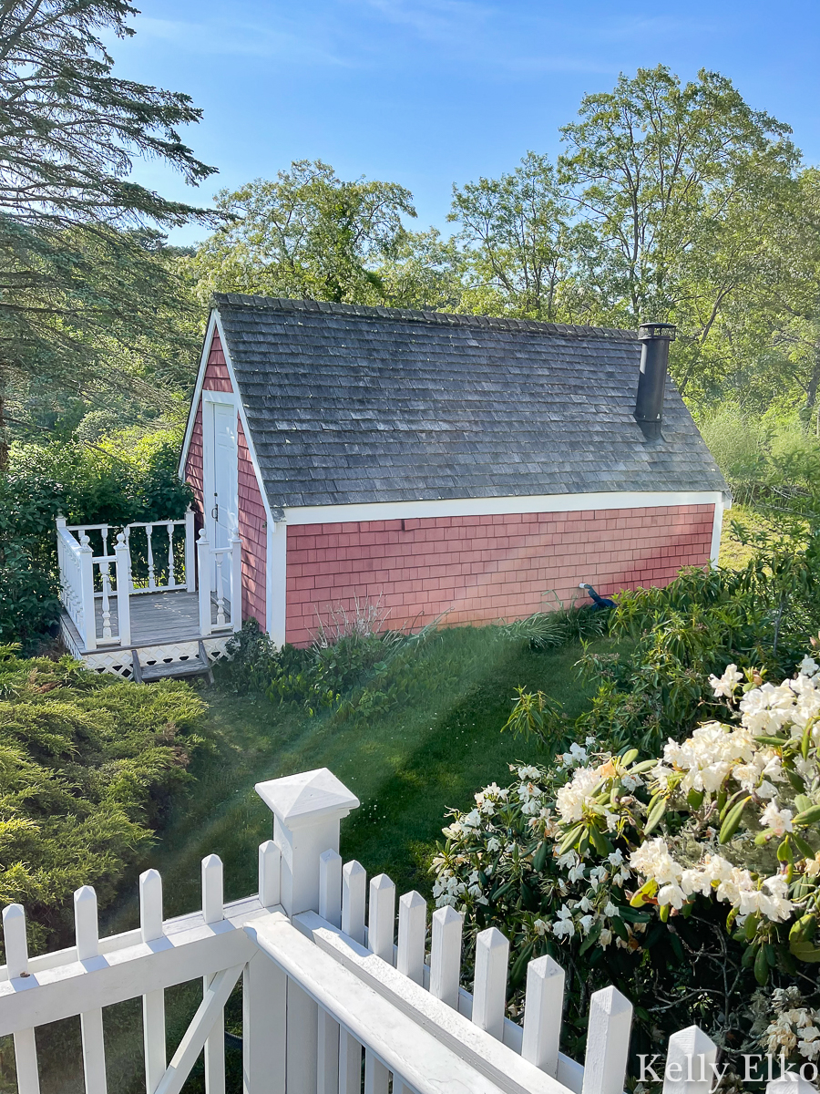 Old ice house on this historic property in Cape Cod kellyelko.com