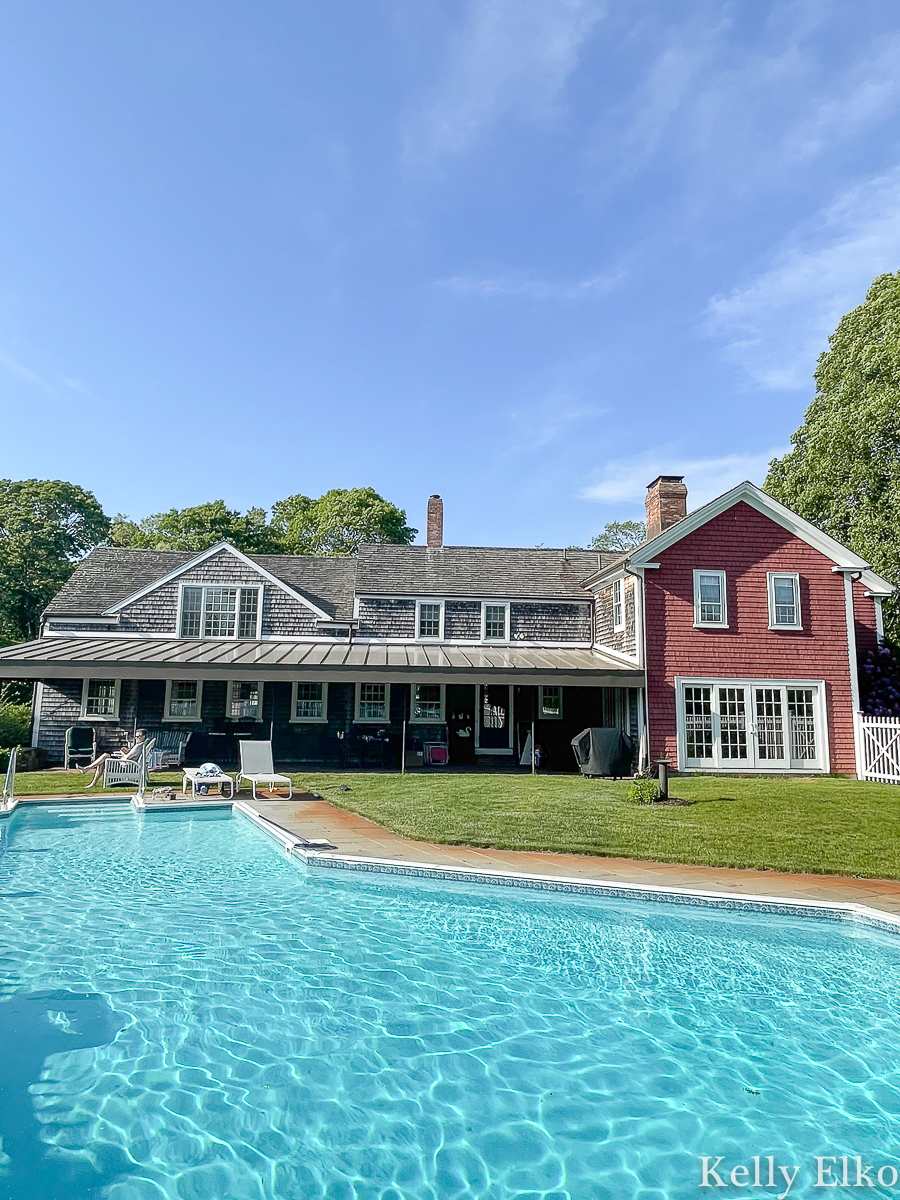 Tour this stunning Cape Cod home called the William Marston House and the beautiful pool and grounds kellyelko.com