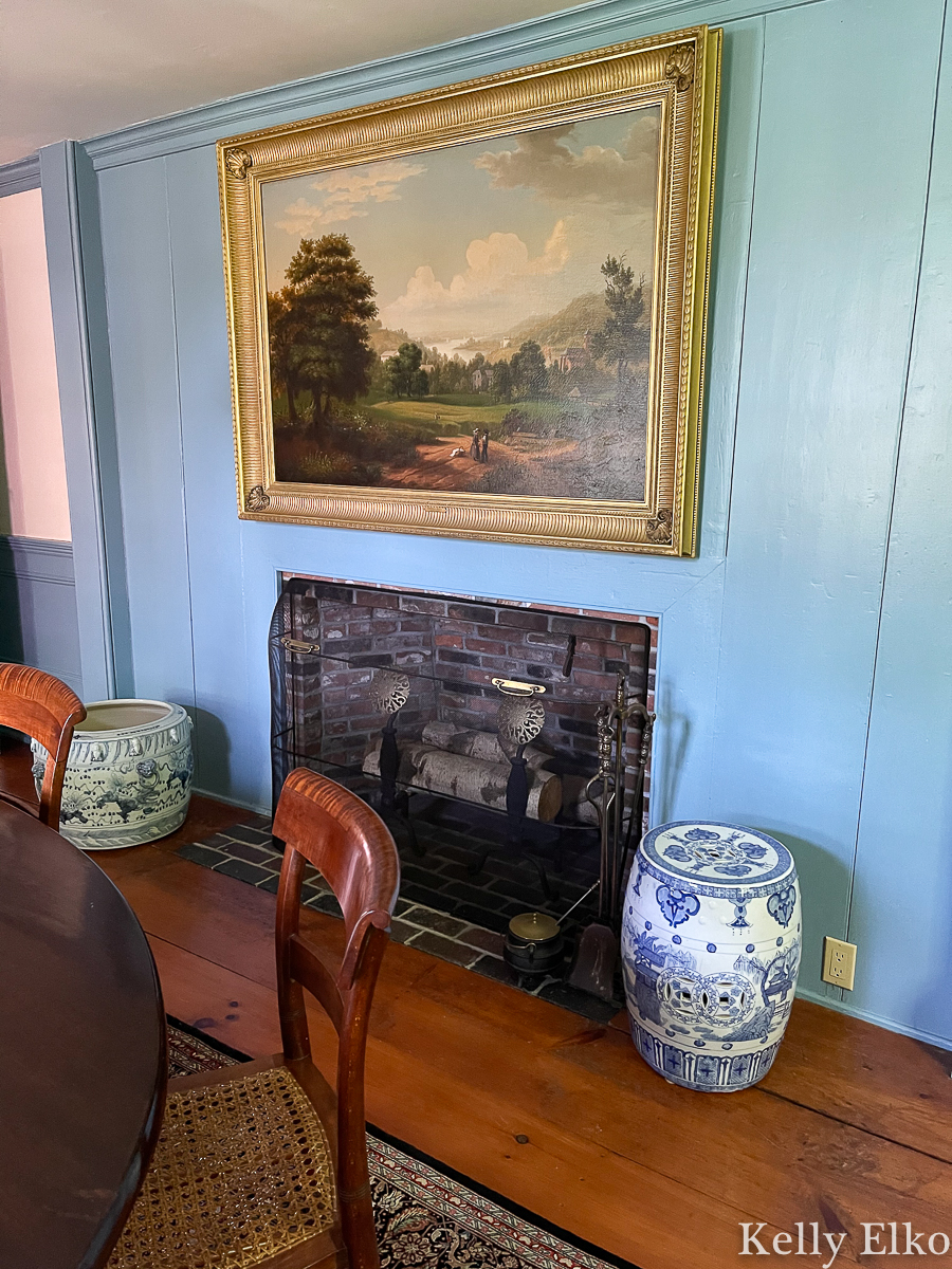 Love this blue paint color in this historic home kellyelko.com