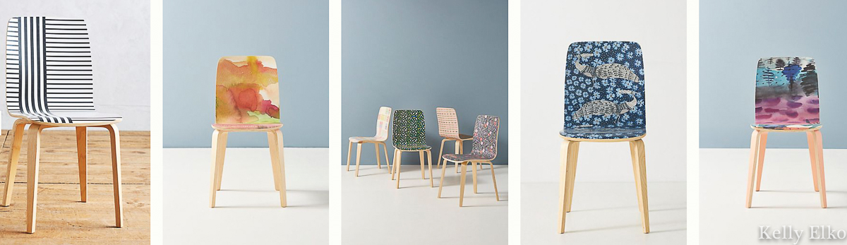 Love all the fun colors and patterns of these affordable Sylvie Tasmin Chairs Anthro kellyelko.com