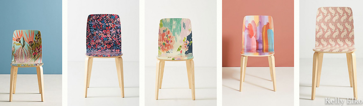 Love all the fun colors and patterns of these affordable Sylvie Tasmin Chairs kellyelko.com