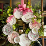 DIY Plate Wreath Tutorial kellyelko.com - see how to make this stunning plate wreath without damaging your plates