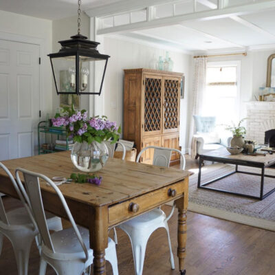 Eclectic Home Tour - Adored House kellyelko.com Tour this stunning farmhouse filled with vintage finds
