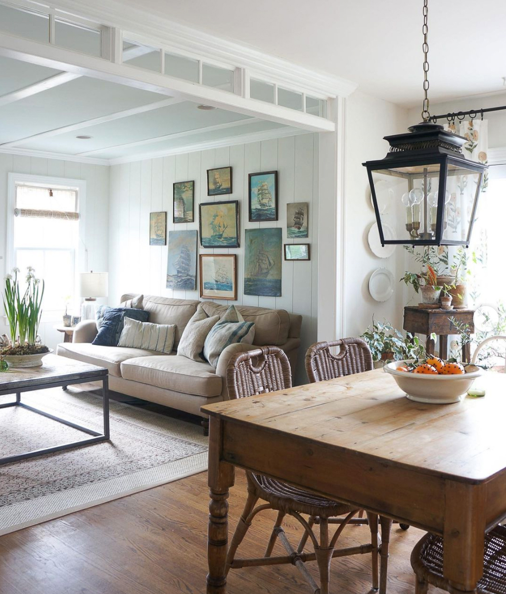 DIY transom and planked walls add farmhouse flair to this new build home kellyelko.com