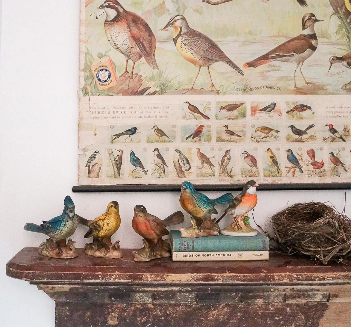 Vintage bird figurine collection kellyelko.com