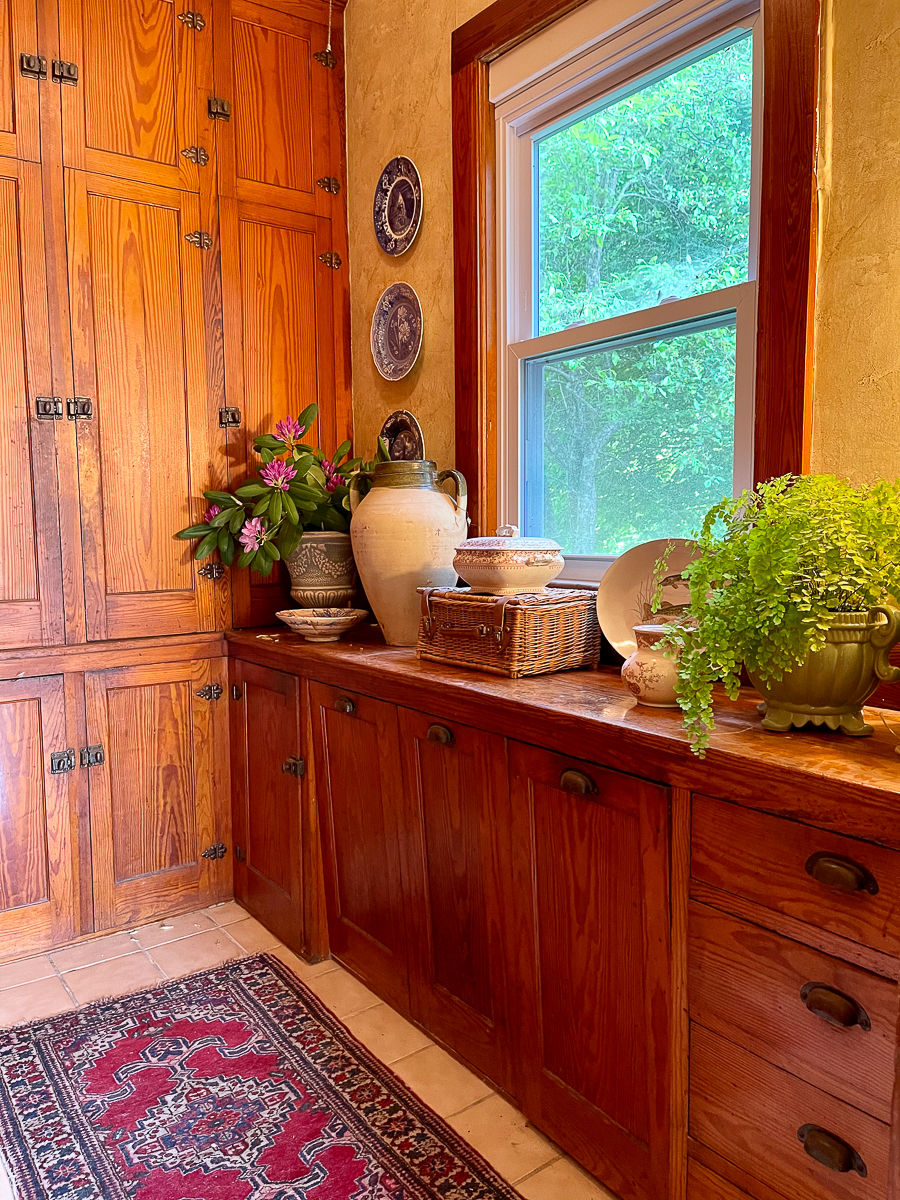 Farmhouse with original oak butlers pantry kellyelko.com