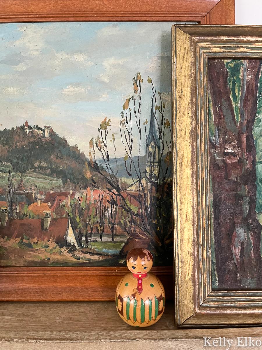 Details of vintage landscape paintings kellyelko.com