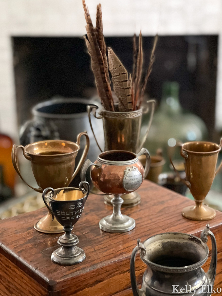 Love this vintage loving cup trophy collection kellyelko.com