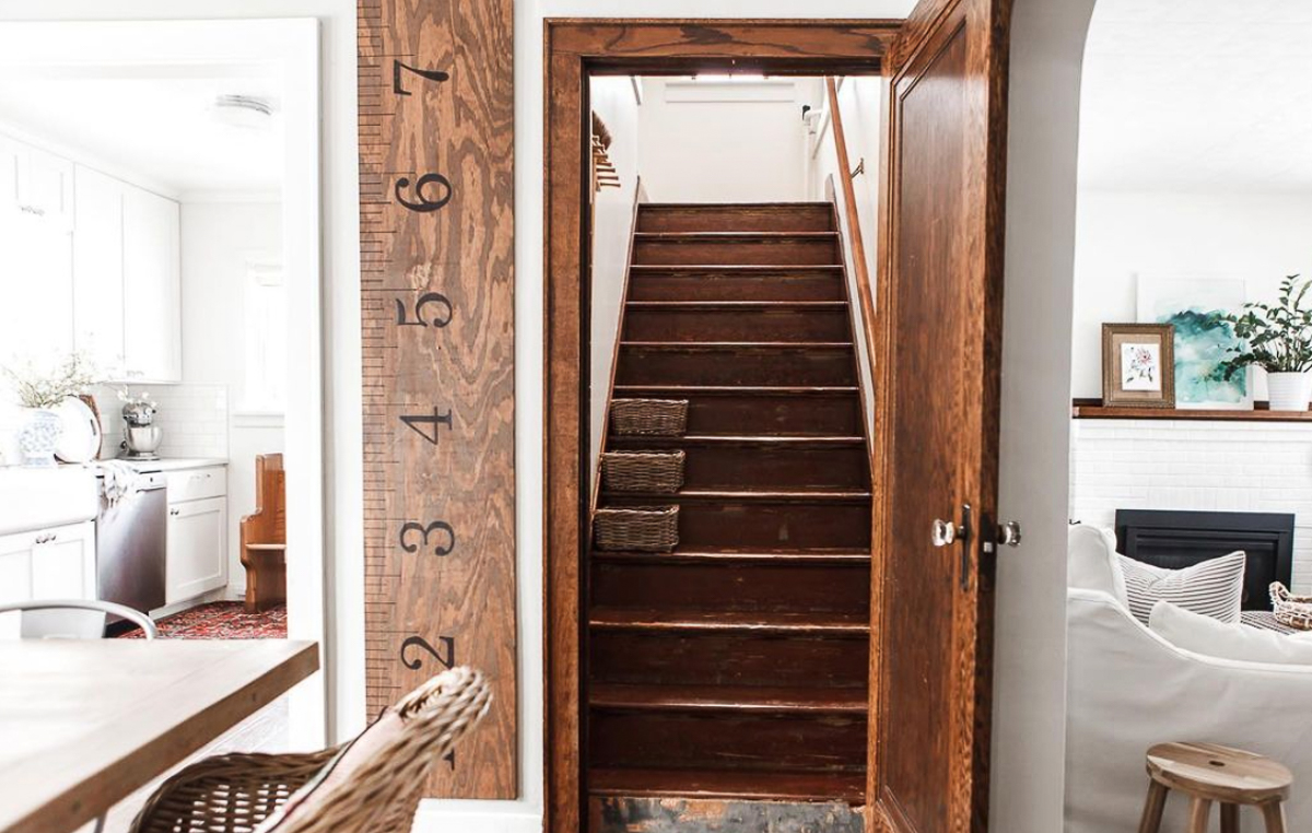 Old staircase in this charming old Tudor kellyelko.com