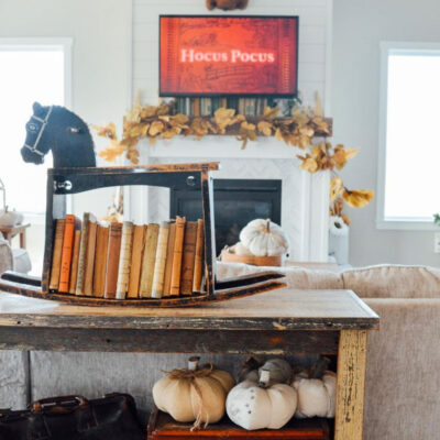 Extra! Extra! - love this rocking horse turned book shelf kellyelko.com
